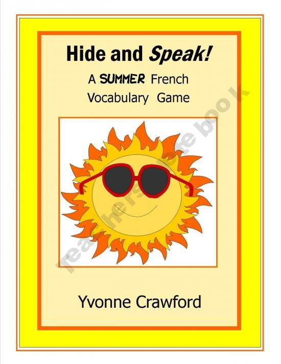 Hide and Speak - A Summer French Vocabulary Game!
