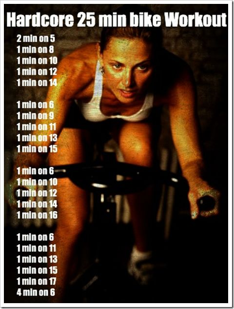 Stationary bike workout