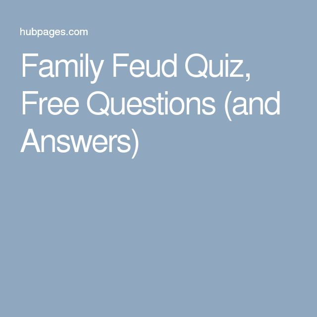 Family Feud Quiz, Free Questions (and Answers)