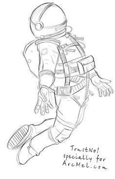 Image result for simple astronaut drawing