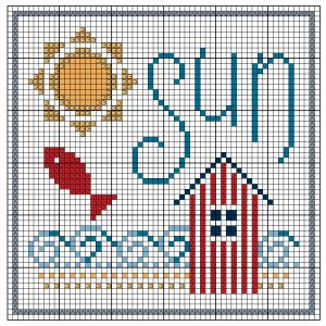 Beach Hut Cross Stitch