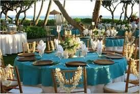 While Aqua doesn't have to mean beach weddings - it is a natural for this venue.