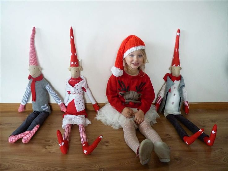 christmas, elf, gnome, decorations, red
