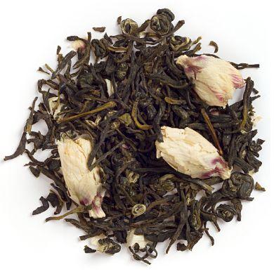 Buddha's Blend from David's Tea -- white tea, jasmine pearls, white hibiscus (my new favourite, discovered in my David's Tea advent calendar!)