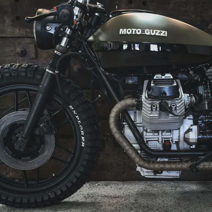 Moto Guzzi V50 army cafe racer by @kristianbech @relicmotorcycles