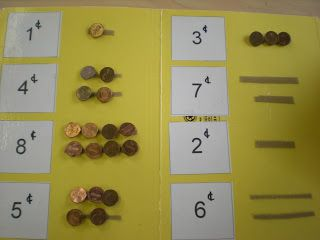 Counting money (from Autism tank)- there is different ways to differentiate this- pictures of the coins, different lengths of velcro, different coinage etc