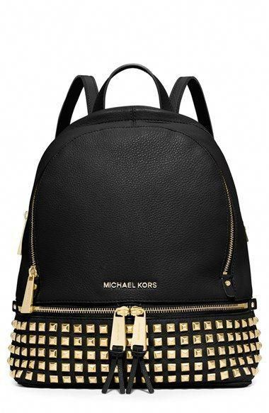 79fea5ca170e MICHAEL Michael Kors 'Small Rhea' Studded Backpack available at #Nordstrom  #Burberryhandbags