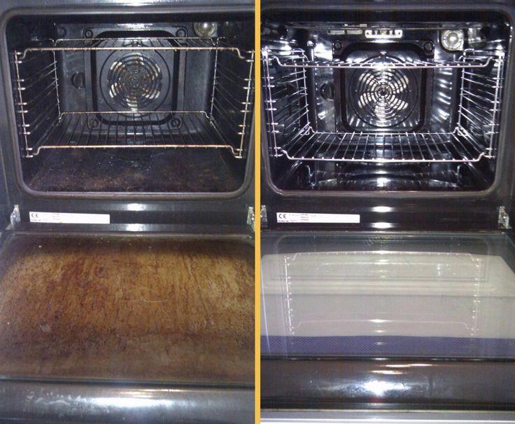 Этот способ научит вас, как проделать тягучую процедуру чистки духовки быстро и легко. Вот, что вам нужно для экспресс-чистки:   четверть стакана разрыхлителя теста 250 мл аммиака (нашатыря) литр горячей воды 2 жаропрочные емкости Вот как нужно чистить стекло духовки: 1. Добавь в разрыхлител