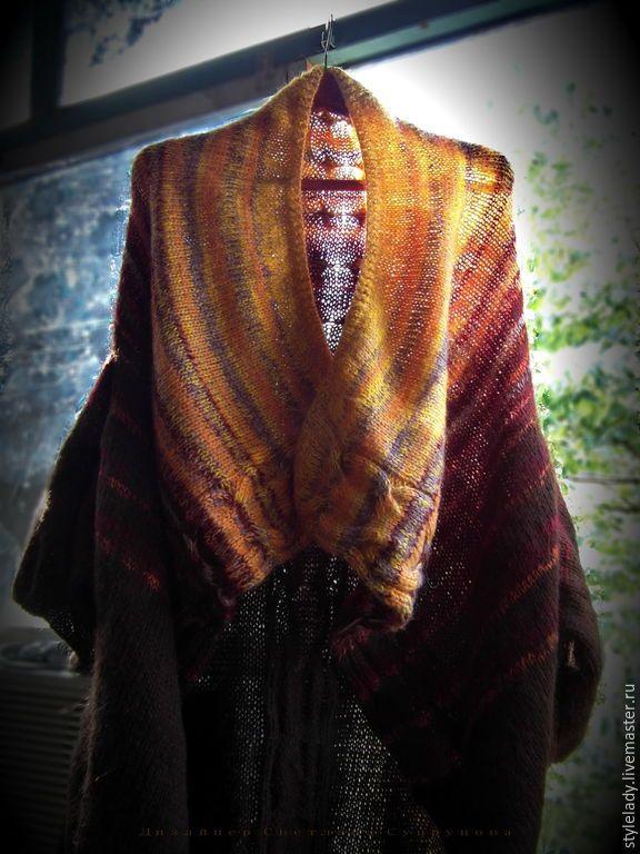 Купить Вязаное пальто-трансформер - пальто, пальто женское, пальто вязаное, Пальто ручной работы