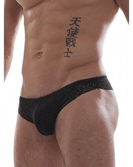 GBGB RAFFY MINI SLIP TIPO BRAGUITA DE ENCAJE NEGRO PARA HOMBRE. http://intimo.mastersex.es/ropa-interior-sexy/13242-gbgb-raffy-mini-slip-tipo-braguita-de-encaje-negro.html