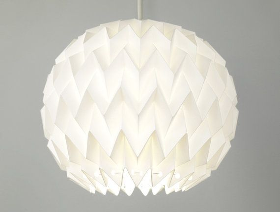BUBBLE: Origami Polypropylene Lamp Shade  WHITE / by FiberStore
