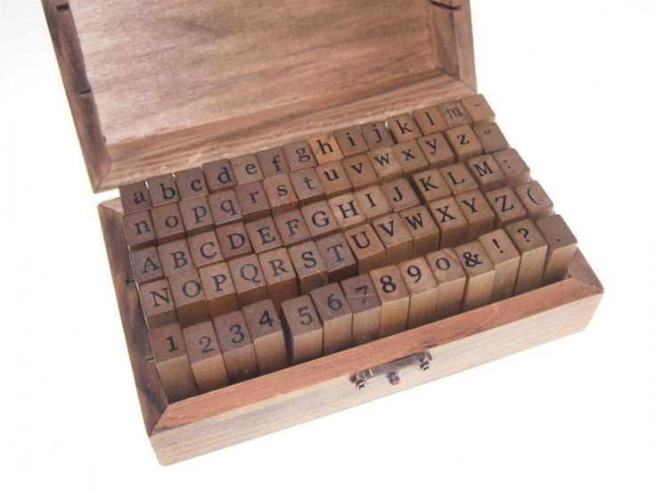 Alfabet stempels met cijfers, hoofdletters + kleine letters | Stempels | Dreamkey Design