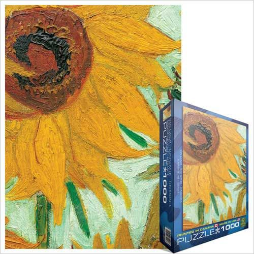 Vase with Twelve Sunflowers (detail), Jigsaw Puzzle by Vincent Van Gogh at Eurographics - maybe even better than the full image?