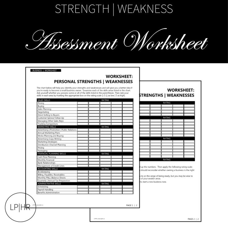 Assessment Worksheet // For Your Career Search www.lphr.co
