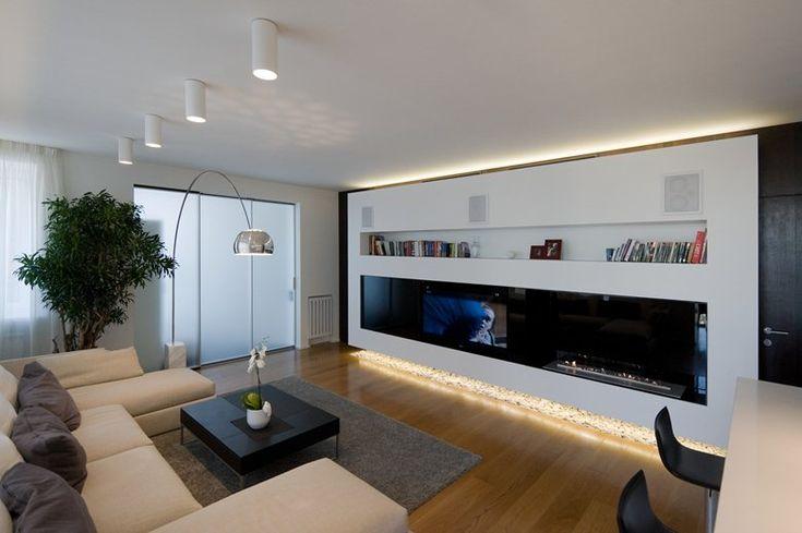 ehrfurchtiges haus mit galerie im wohnzimmer inspirierende bild der bbacddbfcbdb modern apartments modern apartment design