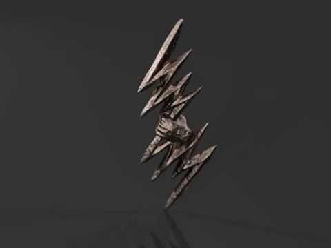 Zeus Thunderbolt Pendant by Mythos Jewelry