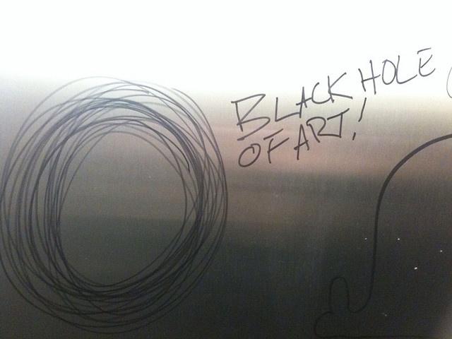 Black hole of art (via Stacie Biehler).