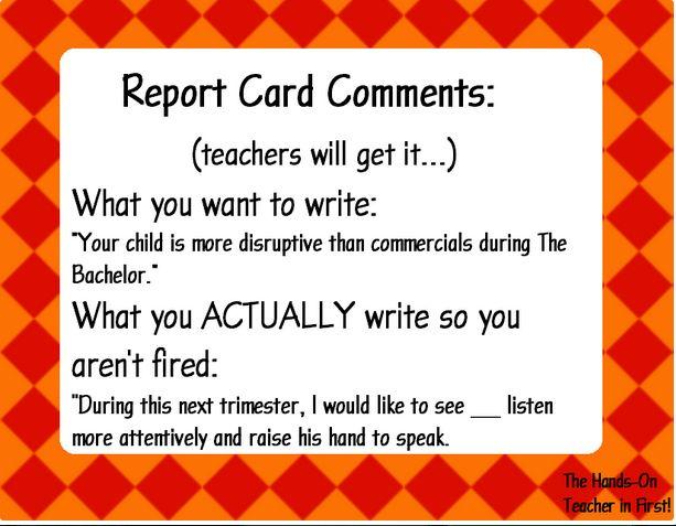 160 best images about Report Cards on Pinterest | Parent teacher ...