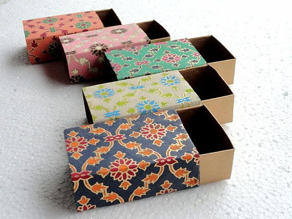 Wedding Favor Box Match Box Packaging Box Gift Box 10 Assorted Lattice Print And Gold Match