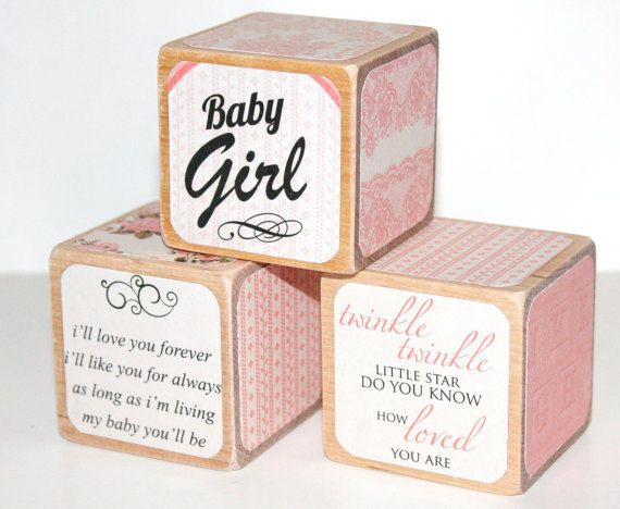 100 ideas to try about personalized baby gifts personalized shabby chic wooden baby blocks pink nursery room twinkle twinkle ill love you forever childrens wooden blocks 2 inch blocks negle