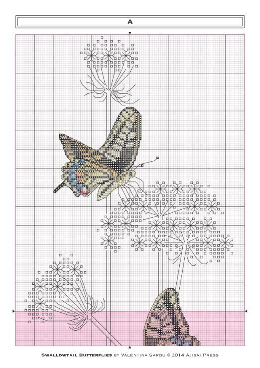 Gallery.ru / Фото #4 - Ajisai Designs - Swallowtail Butterflies - tymannost
