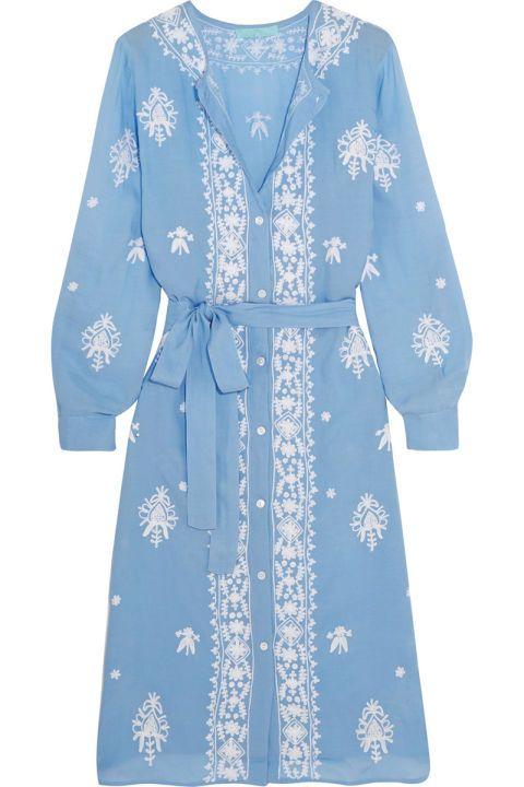 48 trendy summer dresses: Melissa Obadash embroidered tunic dress