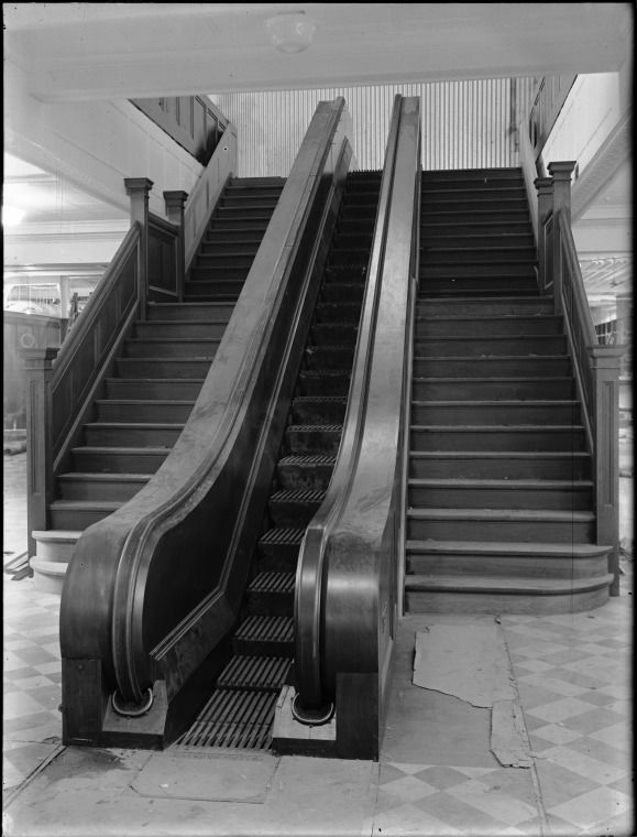 013016PD: Perth's first escalator at Moores department store, 1929.  http://encore.slwa.wa.gov.au/iii/encore/record/C__Rb1919899__Sperth%27s%20first%20escalator__Orightresult__U__X6?lang=eng&suite=def