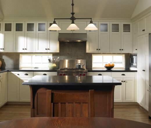 Kitchen Cabinets In Seattle: Contemporary Island Style Teal Kitchen, White Cabinets