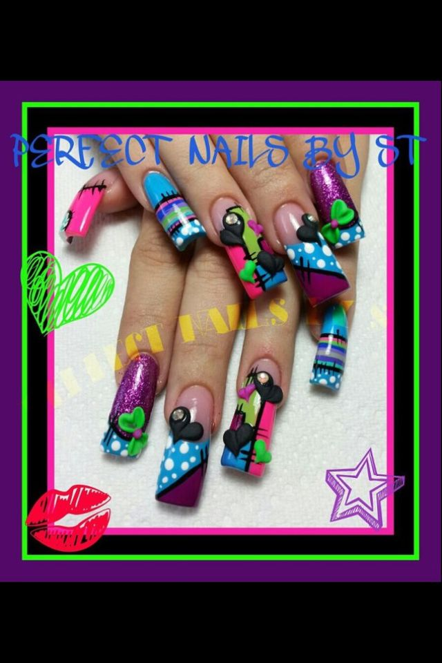 92 best Long nail designs images on Pinterest | Nail design, Pretty ...