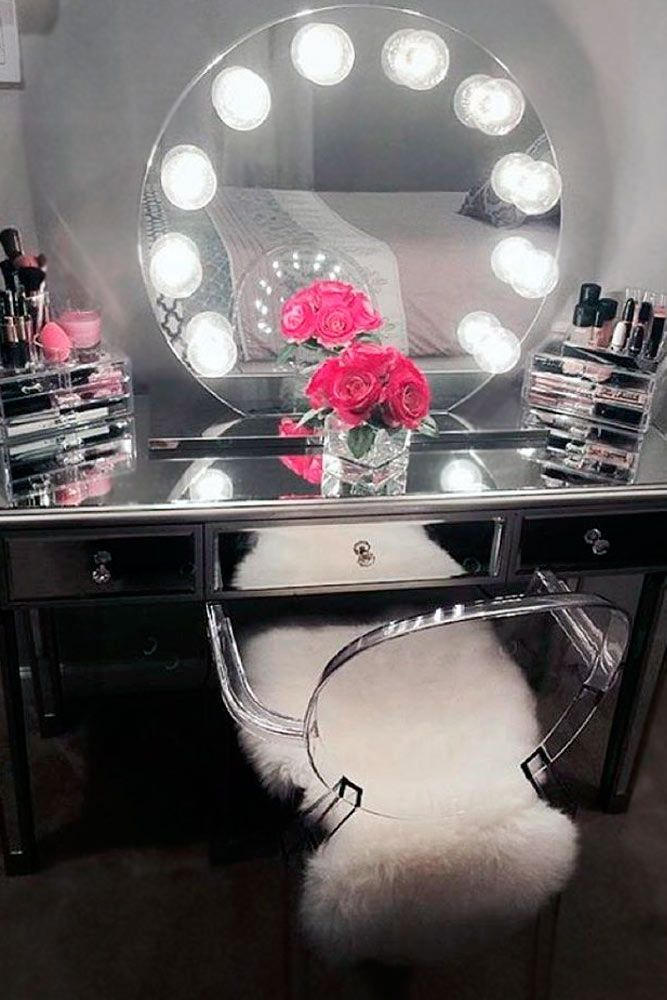 35 Most Popular Makeup Vanity Table Designs Diy Vanity Mirror Mirrored Vanity Table Vanity Table With Lights