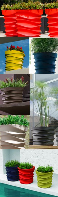 modern and colorful patio planters | container gardening | free shipping