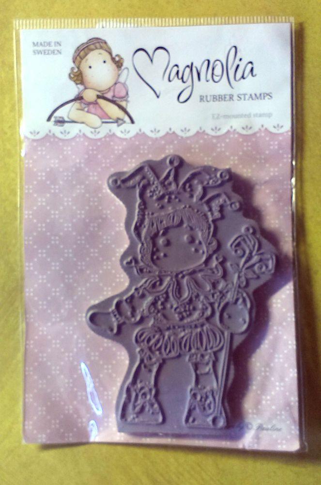 Magnolia Jester Tilda Cling Rubber Stamp - 9cm x 6.2cm image - new