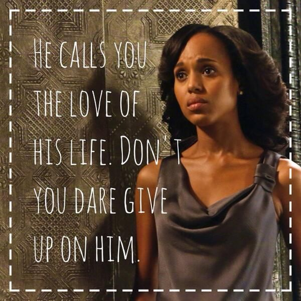 Scandal... I am so beyond addicted to this show, I'm overloading on Netflix, I keep telling myself it's not unhealthy...