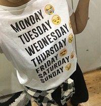 Wish | Summer Style Casual Short Sleeve Fashion Women Sports Monday Thru Sunday Emoji White Letter T-shirt