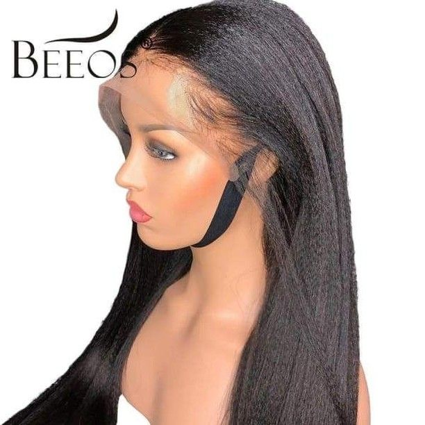 Https Buff Ly 2rizgs2 360 Lace Frontal Wig Pre Plucked With Baby Hair Brazilian Yaki Straight Lace Human Ha Human Hair Wigs Lace Frontal Wig Baby Hairstyles