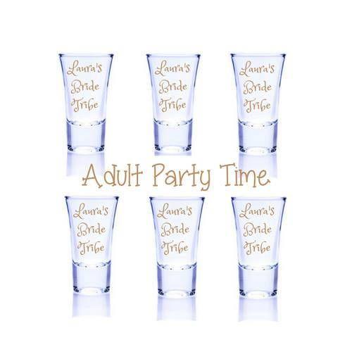 wedding shot glasses, bride tribe shot glasses wedding, shot glasses wedding, hen party shot glasses funny, funny shot glasses, bridal