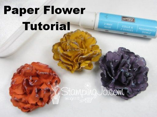 Learn how to make these beautiful sparkly flowers- FREE TUTORIAL