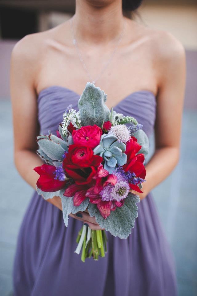 Red Lavender Bouquet From November Primarypetals Www Wedding Colorsred