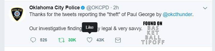 Oklahoma City Thunder have been accused of CRIME  OKC PO PO respond