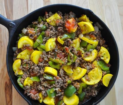 Beef and vegetable skillets are high-protein and low-fuss meals.