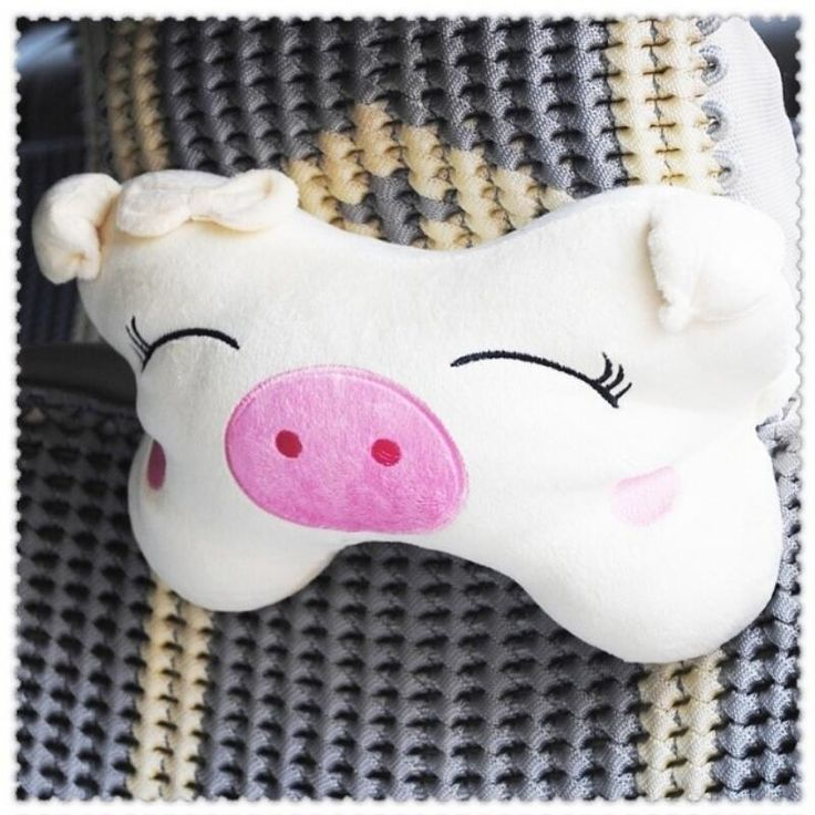 Cartoon Pig pillows car accessories car headrest neck pillow cushion auto supplies 1 pair lovely car sytling christmas gifts //Price: $16.95 & FREE Shipping //     #hashtag2