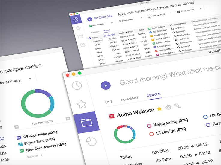 OfficeTime Desktop