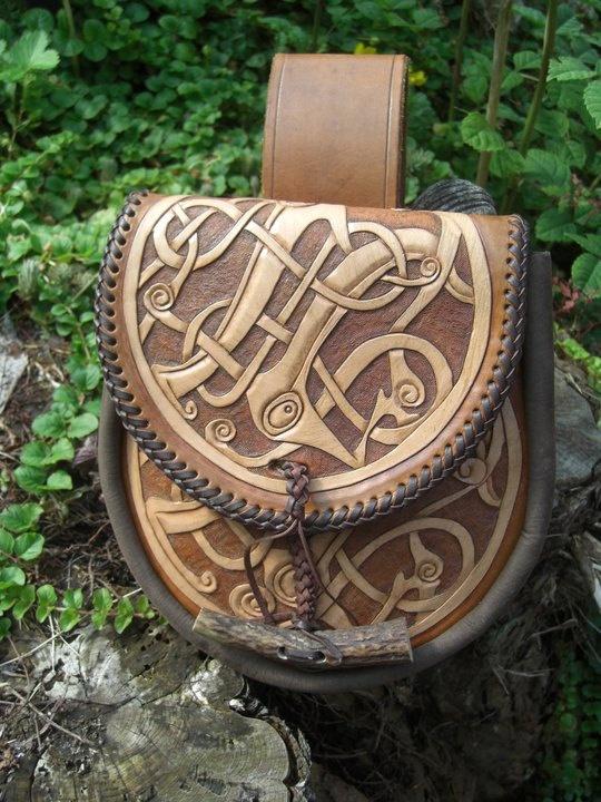 Leather Sporran by flashbangleather on Etsy, $190.00