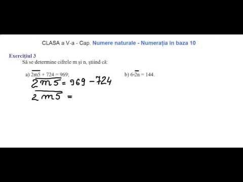 Exercițiul 3    Să se determine cifrele m și n, știind că:  a) 2m5 + 724 = 969; b) 6x2n = 144.   https://www.facebook.com/RezolvariMatematicaOnline https://www.facebook.com/MeditatiiMate https://www.facebook.com/groups/181615342005760/