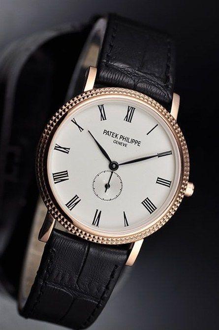 Patek Philippe Calatrava 18K Rose Gold Men's Watch - mens watches designer sale, mens black designer watches, designer mens watches online