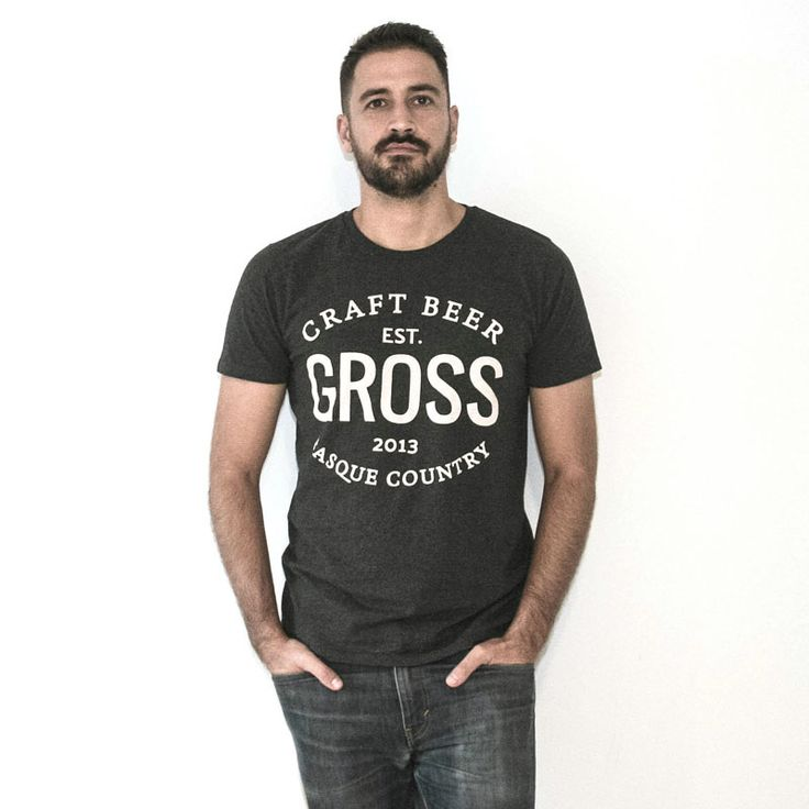 Vintage style Craft Beer T-Shirt from Gross brewers in Basque Country
