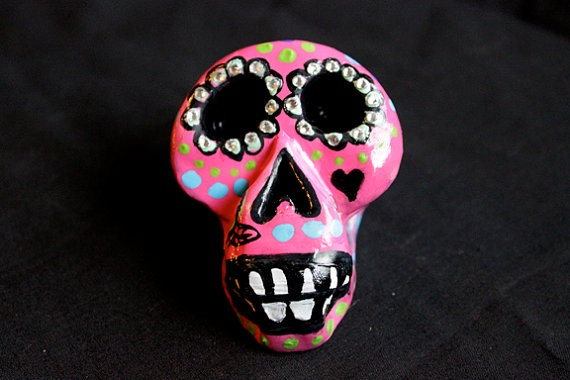 Calavera Sugar Skull Sculpture by jessicarenahan on Etsy, $75.00