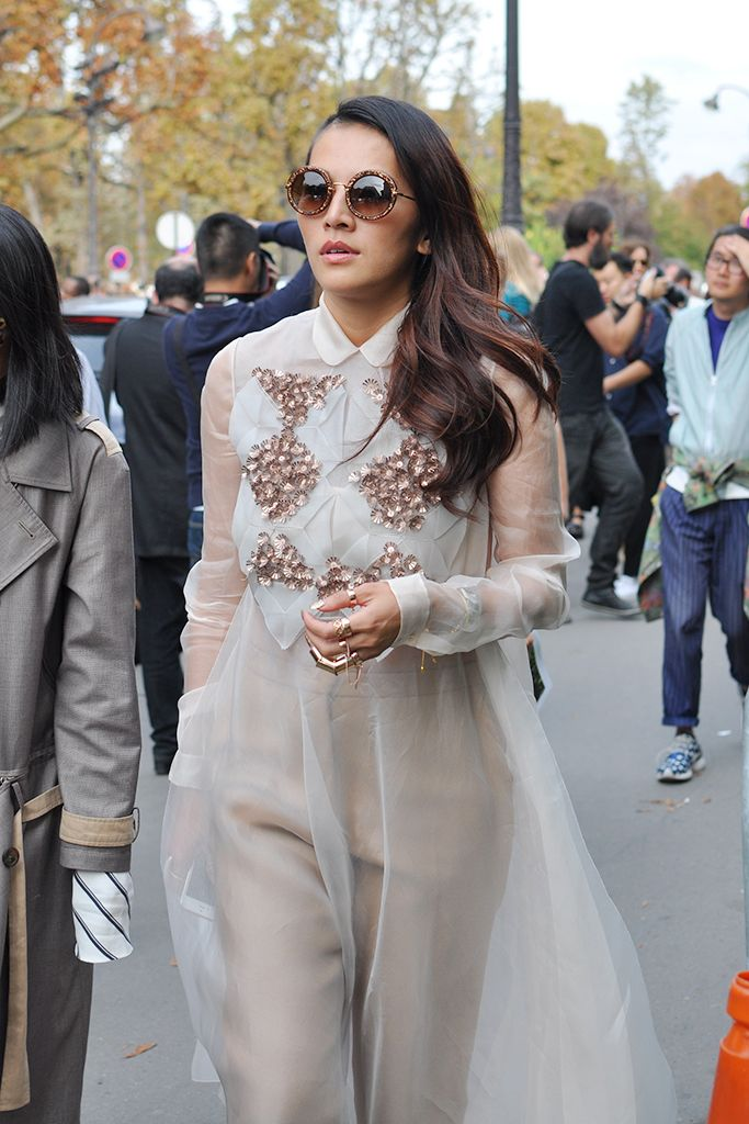 whispy floaty loveliness. #TinaLeung in Paris.