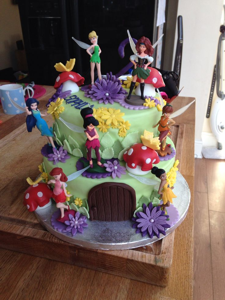 Tinkerbell And The Pirate Fairies Cake Tinkerbell