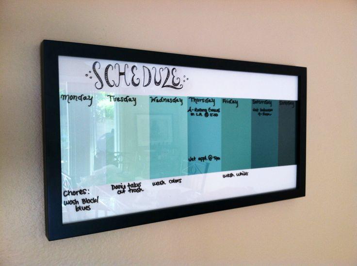 How to Create a Schedule Board